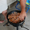 grillin' up the shrimps