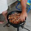 grillin' up the shrimps