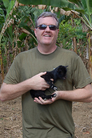 Brent Engel & baby goat
