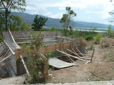 house under construction at Fond Doux