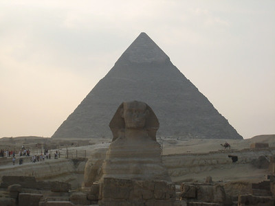 Pyramid of Cheops and the Sphinx.
