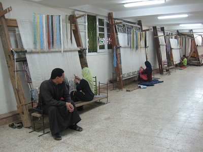 In the carpet factory near Sakkara.