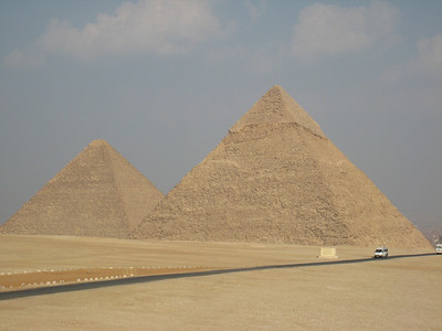 The pyramids at Giza.