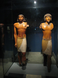 Statues in the museum at Sakkara.