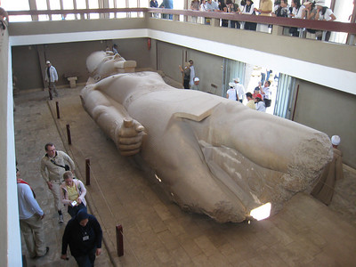 "The statue of Rameses II at Memphis (""Going to Memphis to see The King"" gets a whole new meaning.)"