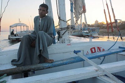 On the Nile in Luxor, Egypt