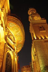 Al Moez Street at night, Islamic Cairo, Egypt