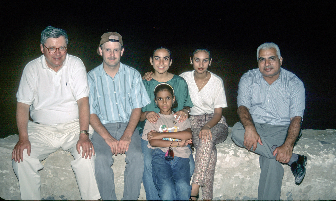 Near the beach in Alexandria, Egypt - July 1997