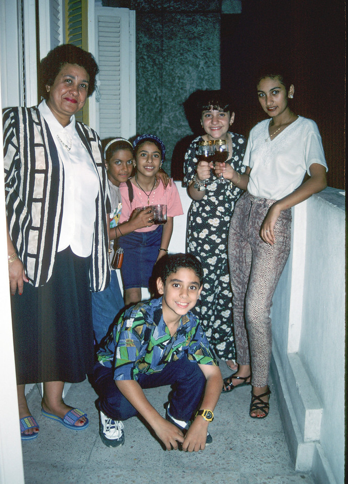 Visiting some of George's relatives in Alexandria, Egypt - July 1997