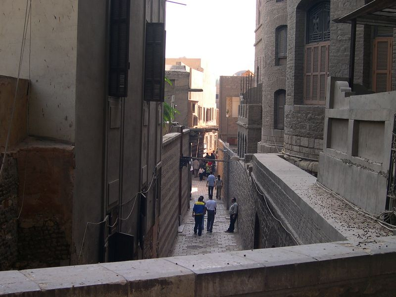 An alley in Coptic Cairo.