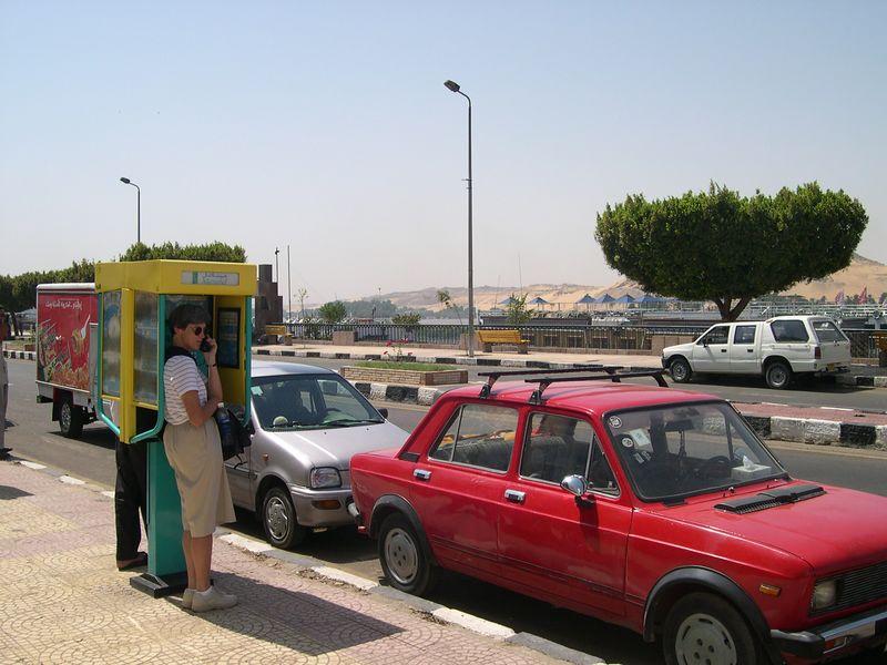 Beth phones Anne Elise in Cairo from Aswan.