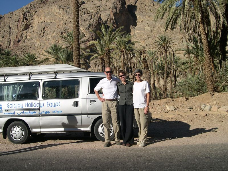 We hired a van and driver to carry us to St. Catherines on the Sinai Peninsula.