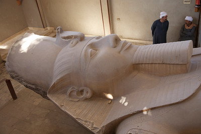 A colossal statue of Ramses II. When in doubt it's always Ramses II.
