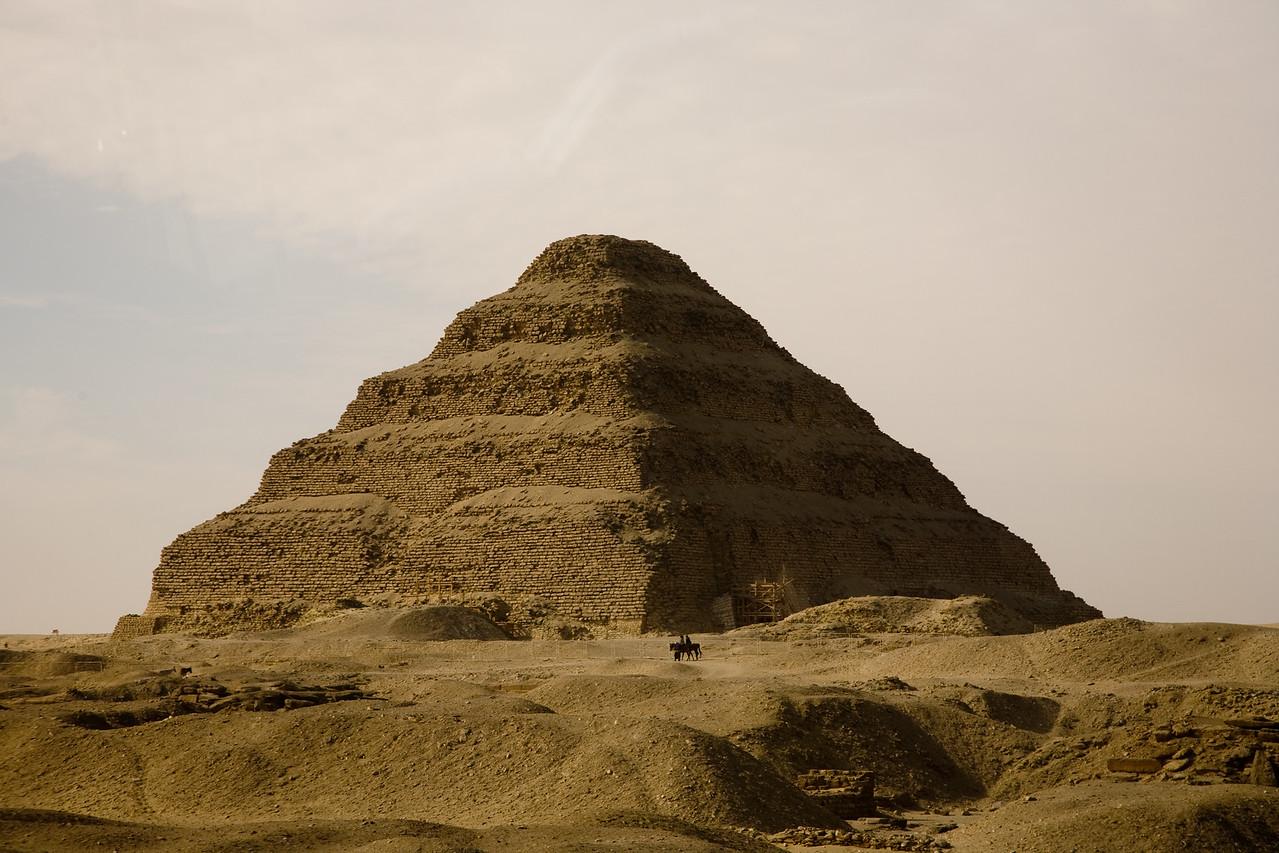The step pyramid at Saqqara - the first known pyramid