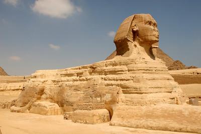 Giza Pyramids - The Sphinx, Giza Plateau, Cairo, Egypt.