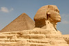 Giza Pyramids - The Sphinx and Great Pyramid of Khufu.