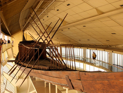Giza Pyramids - Another view of Pharaoh Khufu's solar barque.