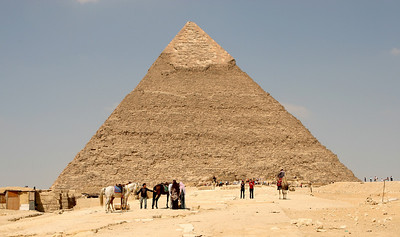 Giza Pyramids - Pyramid of Khafre.