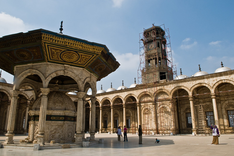 Title: The Inner Courtyard<br /> Date: October 2009<br /> Inside the Alabaster Mosque in Cairo.