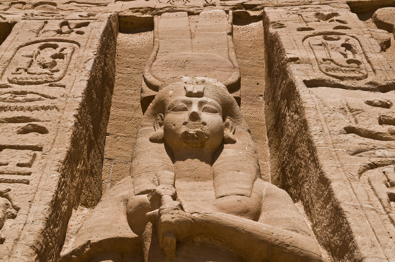 Title: Face of a Queen<br /> Date: October 2009<br /> Abu Simbel