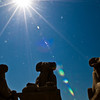 Title: Ram Headed Sphinxes Under the Many Rayed Sun<br /> Date: October 2009<br /> Ram headed sphinxes at Karnak Temple.