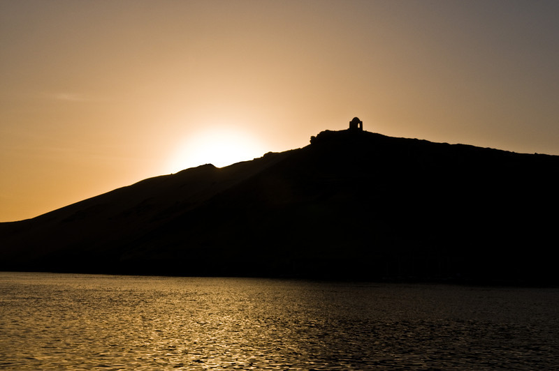 Title: Hidden<br /> Date: October 2009<br /> Sunset on the Nile, as we returned to our cruise ship in Aswan.