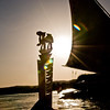 Title: Gifts of Nubia<br /> Date: October 2009<br /> The two things I got from Nubia: a fantastic ride on a felucca, and this camel bone letter opener.  All at sunset while on the Nile.  On the same boat too!