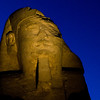 Title: Ravages of Time<br /> Date: October 2009<br /> One of the sphinxes on the Avenue of Sphinxes at Luxor Temple.