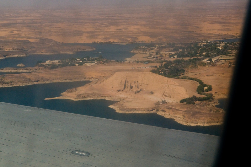 Title: From On High<br /> Date: October 2009<br /> The plane dissent into Abu Simbel.