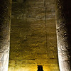 Title: Between the Columns<br /> Date: October 2009<br /> Inside the Temple to Horus at Edfu.