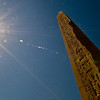 Title: The Sun's Ray in Light and Stone<br /> Date: October 2009<br /> One of the giant obelisks erected by Hatshepsut at Karnak Temple.  One of my more dramtic sunburst too!