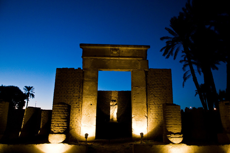 Title: Roman Ruins<br /> Date: October 2009<br /> The ruins of a small Roman temple just outside Luxor Temple.