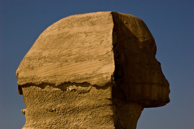 Title: Profile for the Ages<br /> Date: October 2009<br /> The Great Sphinx at Giza.