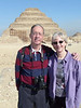 At Saqqara -- the oldest pyramid, built around 2700 BC, making it nearly 5000 years old!