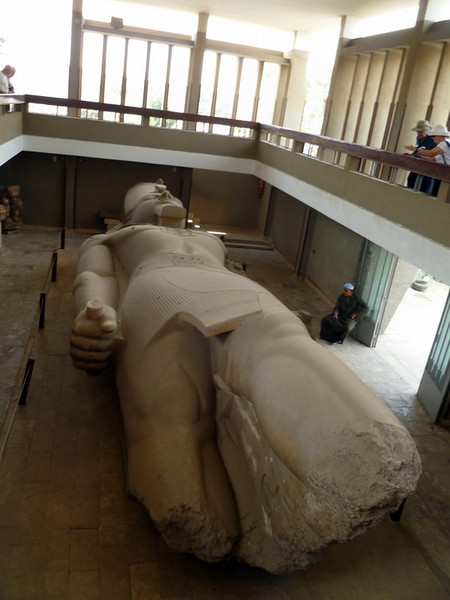 Ramises II statue at a temple in Memphis, Egypt