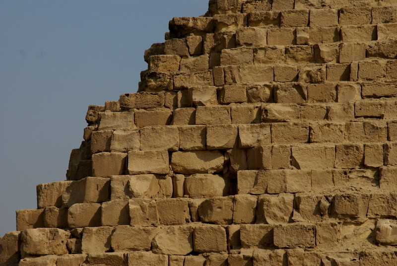 Note the decay of the pyramids.  Also note how precisely the rocks are placed on top of each other.