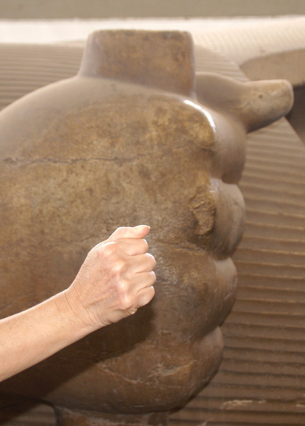 Ramises II- comparing his hand with Judy's