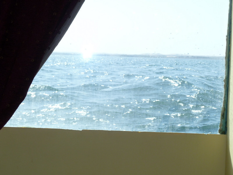 The dining room on the Prince Abbas is on the lowest level, barely above the waterline.
