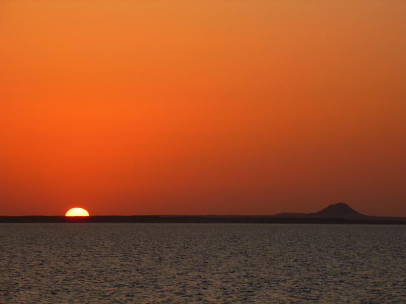 Beautiful sunsets along Lake Nassar