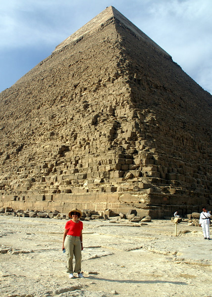 Judy at the great pyramid.