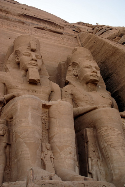 Abu Simbel  Statues of Ramses II and