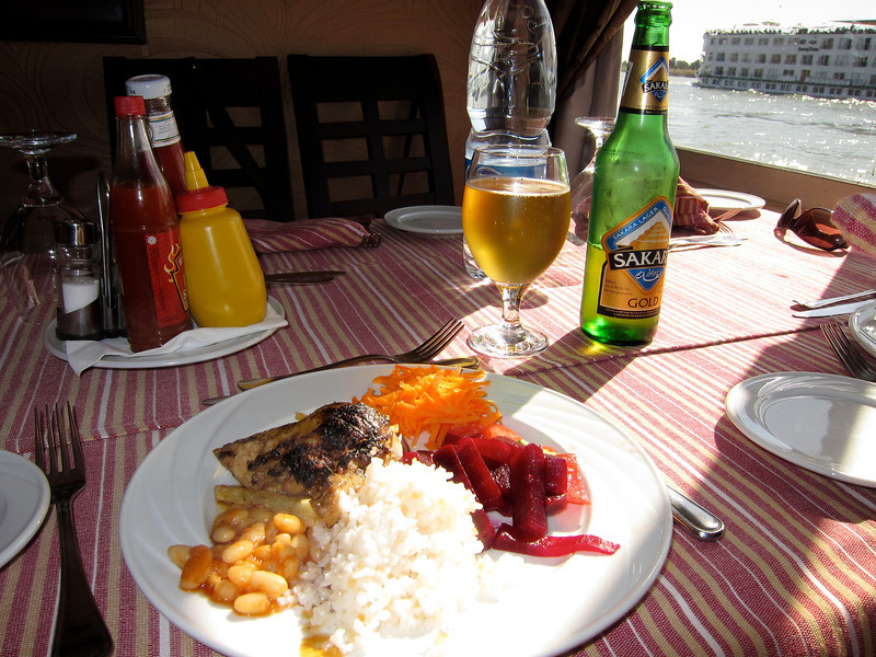 Lunch on Our Nile Cruise Boat, the Melodie