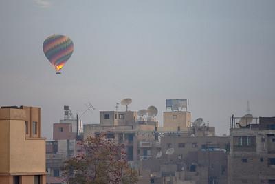 Hot air balloons over Luxor