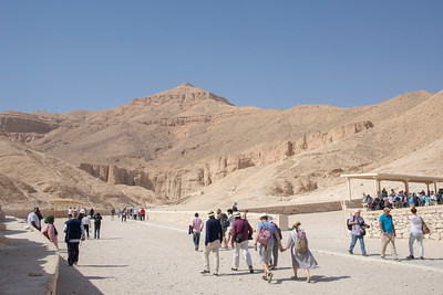 In the Valley of the Kings of ancient Egypt