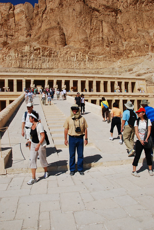Colin at Hatshepsut's Temple.