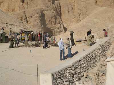 Excavating a tomb in the Valley of the Kings.