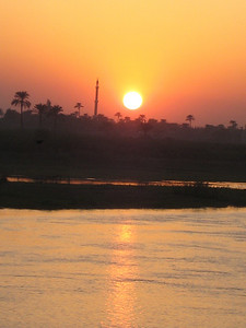 Sunset over the Nile (not bad for a little Canon camera.)