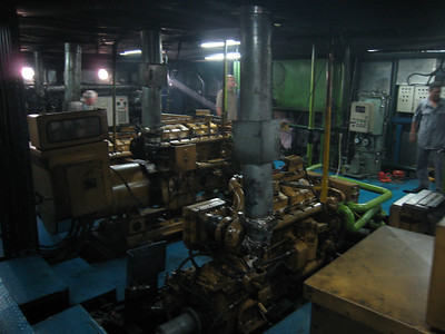 The engine room of the Miriam.