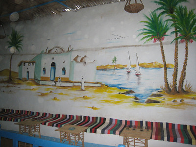 Mural inside our host's house in the Nubian village.