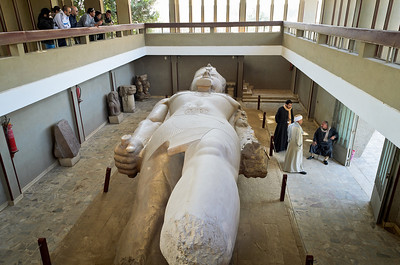 Jan. 12, 2013. Huge Statue of Ramses II in Mit Rahina museum in Memphis, Egypt. Memphis was once the capital of Egypt.